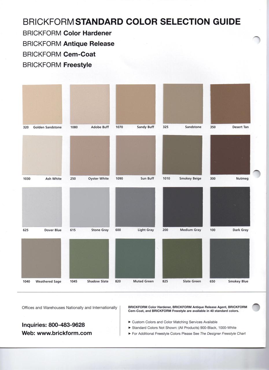 Concrete color charts concrete contractor brickform color 1 nvjuhfo Images