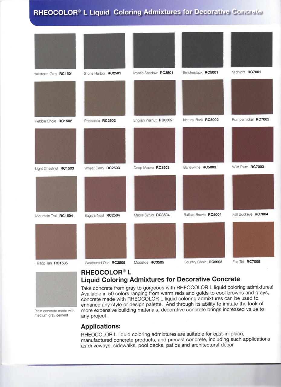 concrete contractor  u00bb concrete color charts