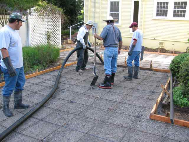 Marin concrete contractor in san rafael concrete pouring for How to pour a concrete driveway