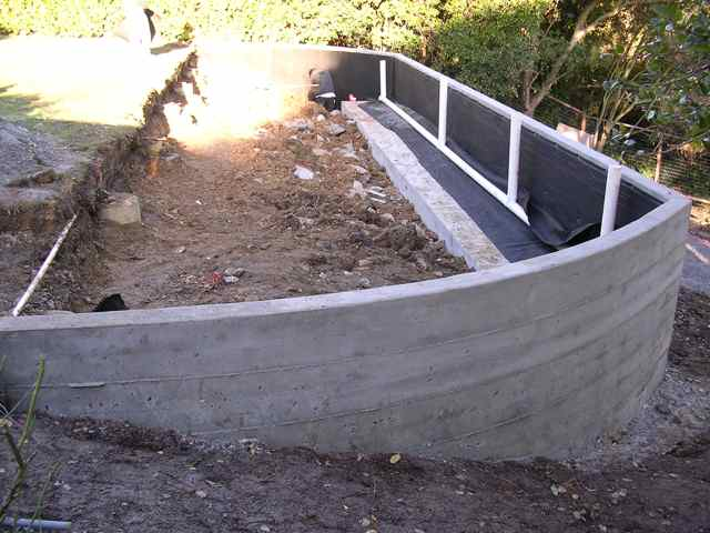 Gallery For Poured Concrete Retaining Wall Design